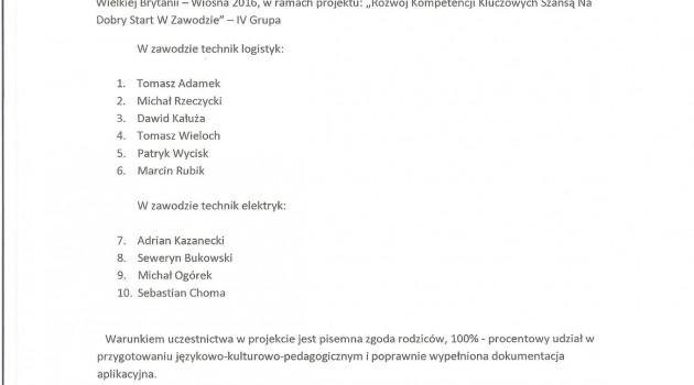 Kolejna grupa stażystów na start!!!